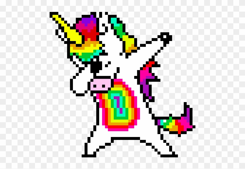 Dabbing Unicorn Pixel Art Dabbing Unicorn Hd Png Download