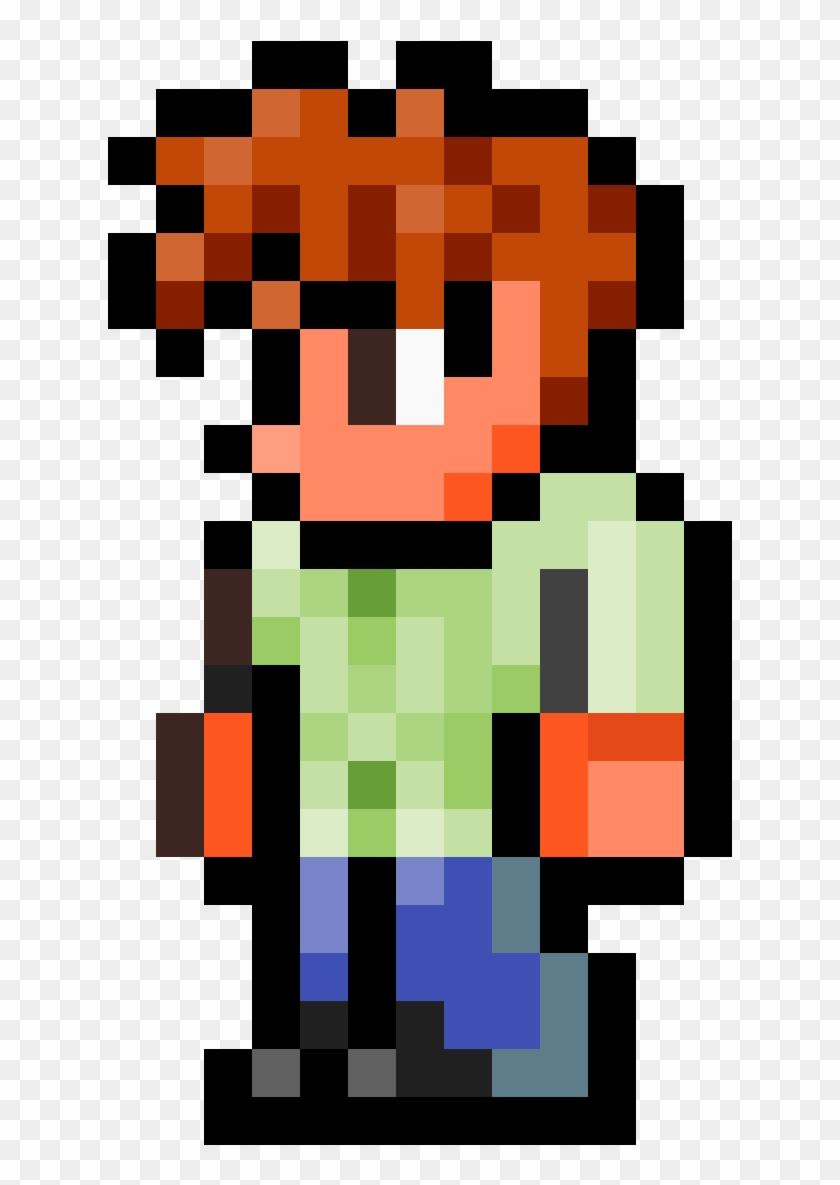 Guide From Terraria Terraria Guide Pixel Art Hd Png Download 672x1200 2274506 Pngfind