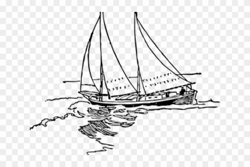 Fishing Boat Clipart Vector Sailboat Drawing Png Transparent Png 640x480 2277759 Pngfind