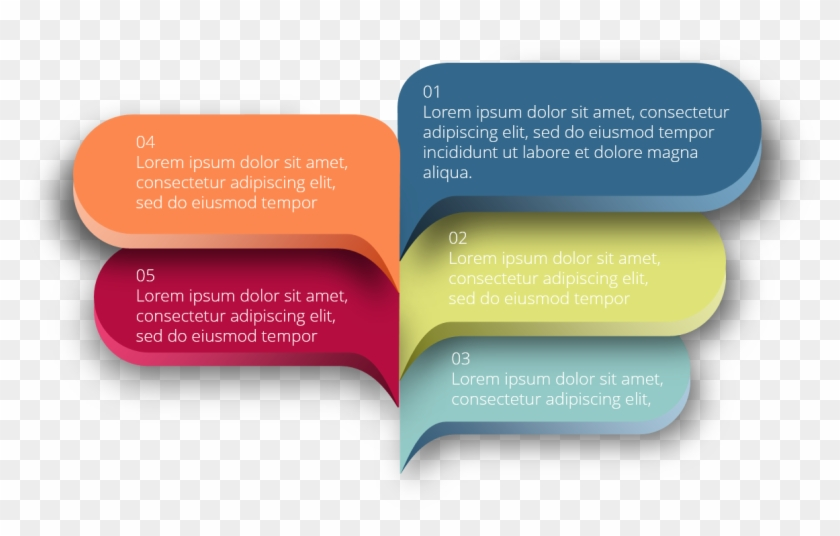 Free Infographic Powerpoint Template - Free Ribbon Banner