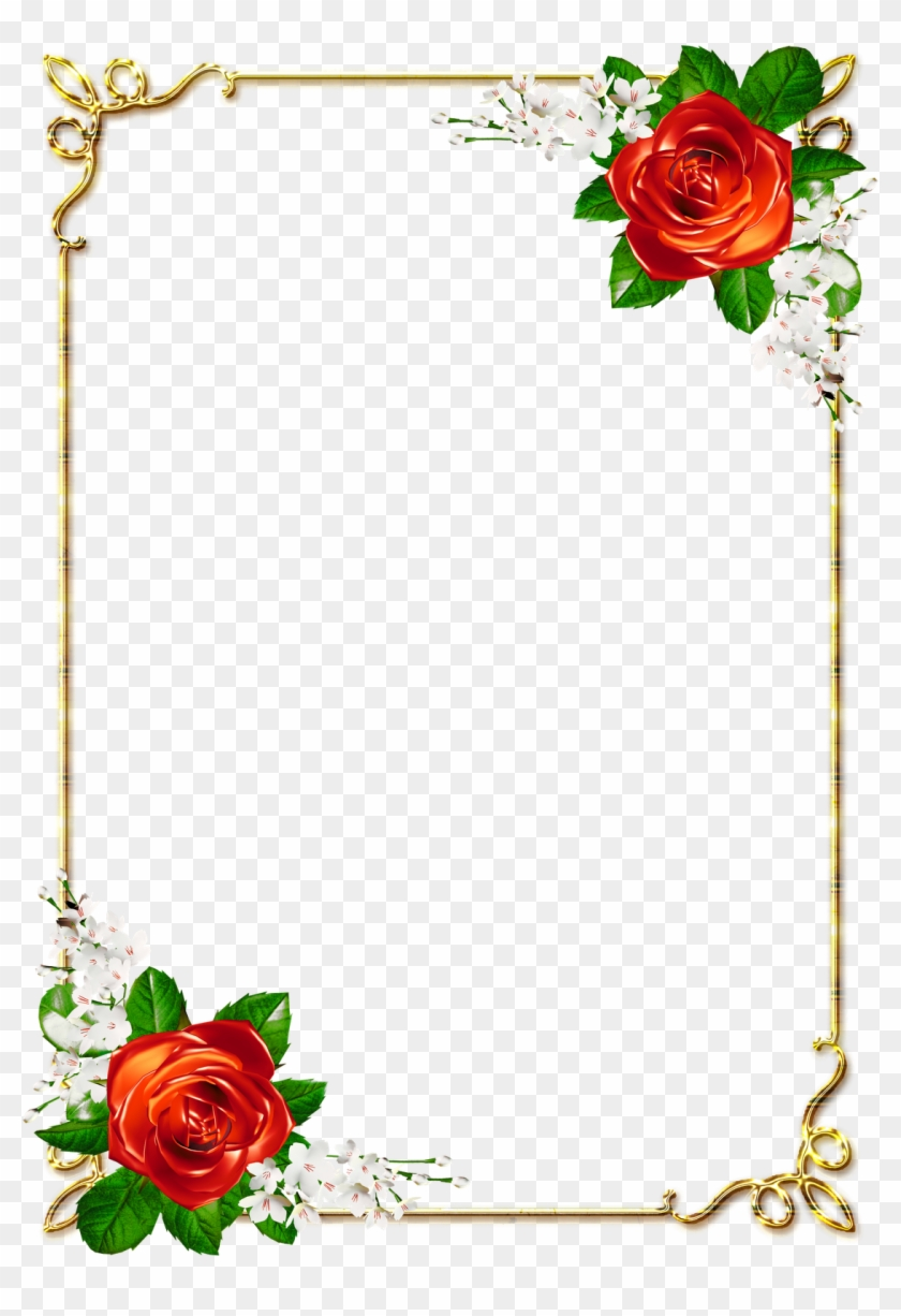 Flower Page Border Png - Flowers Healthy