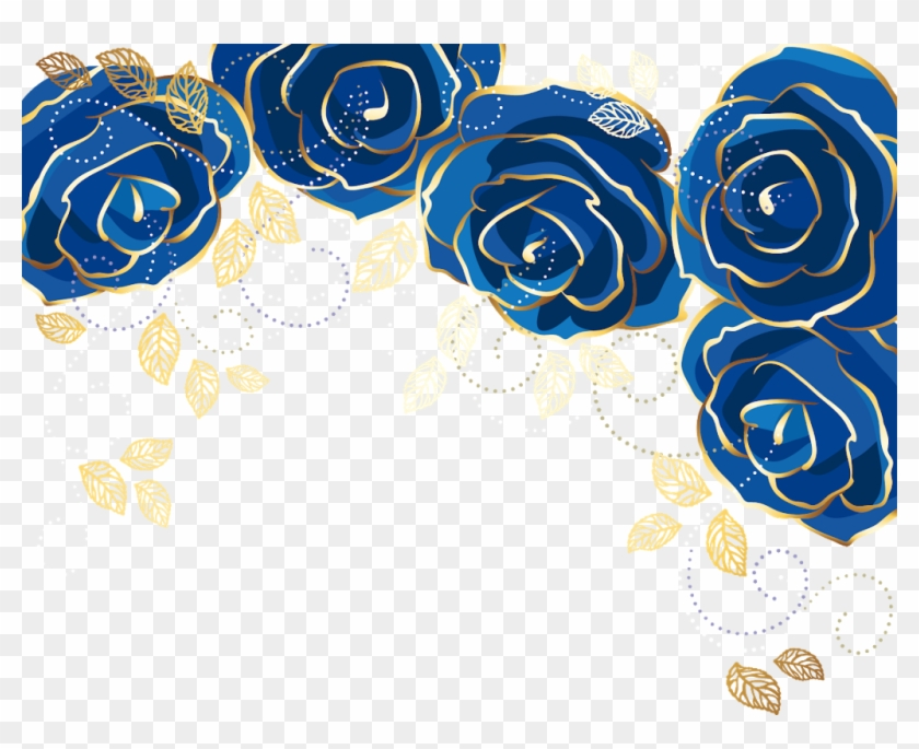 Rose Roses Rosesticker Midnight Gold Blue Royalblue