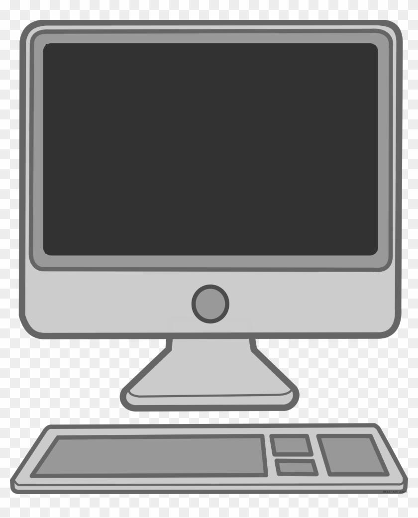 Desktop Computer Clipart Black And White