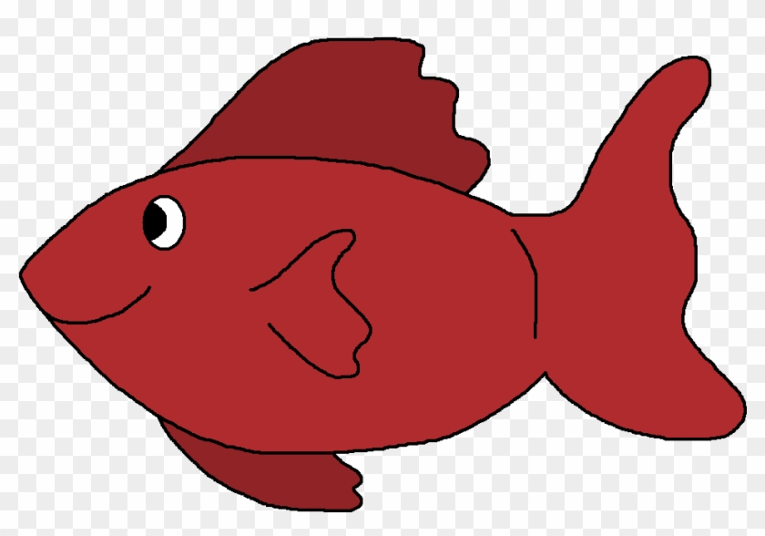 Fish red. Clipart black and white