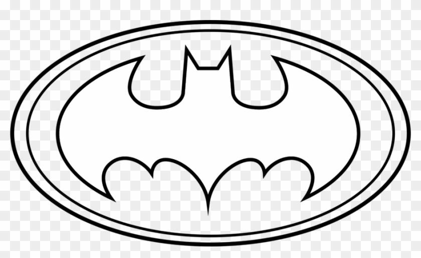 Batman Logo Outline Batman Logo Coloring Pages Hd Png Download 900x508 235310 Pngfind