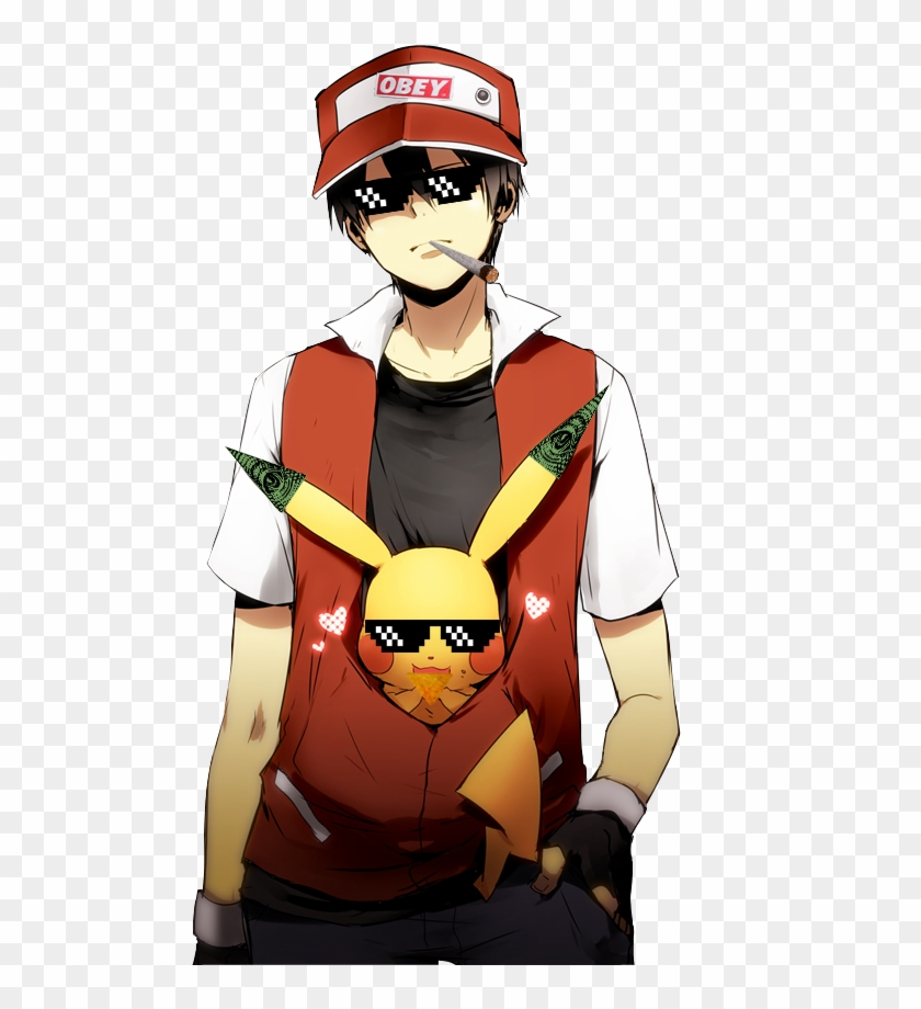 Mlg Trainer Red Red Pokemon Hd Png Download 492x840 236761