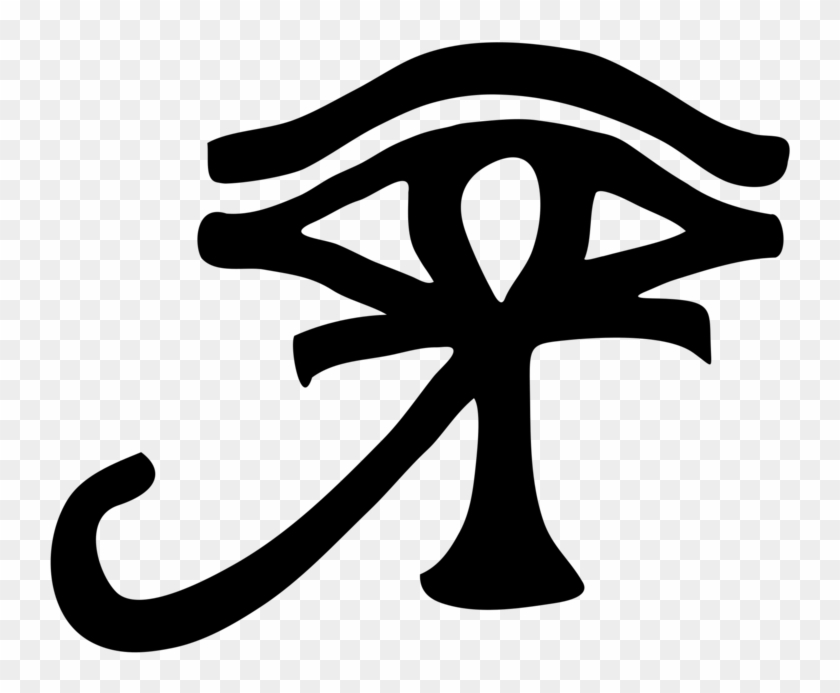 Ankh And Eye Of Horus , Png Download - Eye Of Ra Ankh