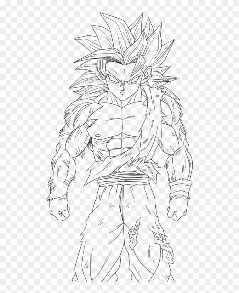 Dragon Ball Z Coloring Pages Super Saiyan 4 With Goku Goku