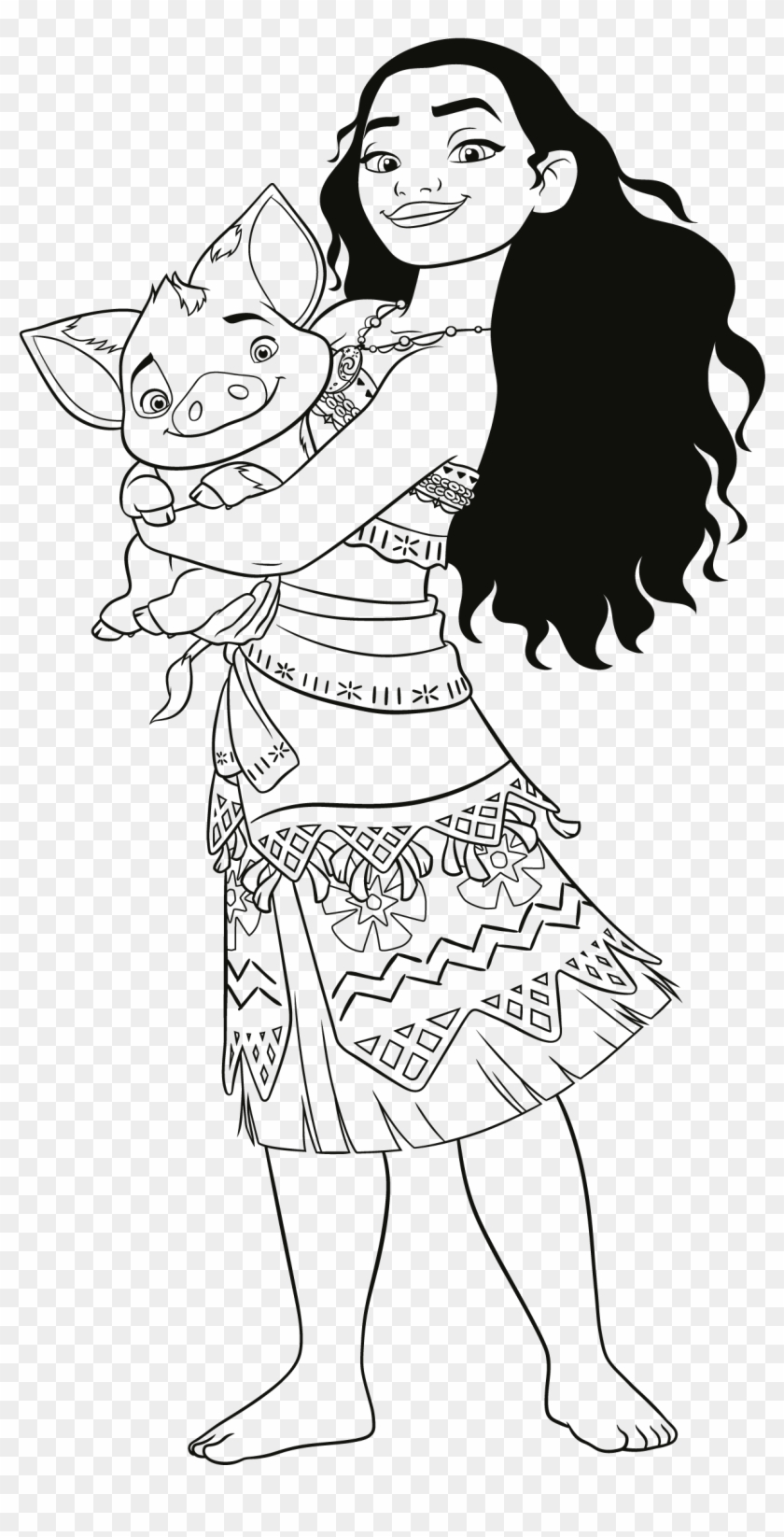 moana coloring pages vaiana oceania da colorare hd png