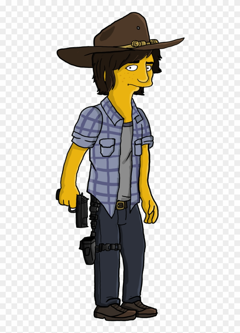 904cb8292cc3 Twd Drawing Carl Transparent & Png Clipart Free Download - Carl Grimes  Simpsons, Png Download