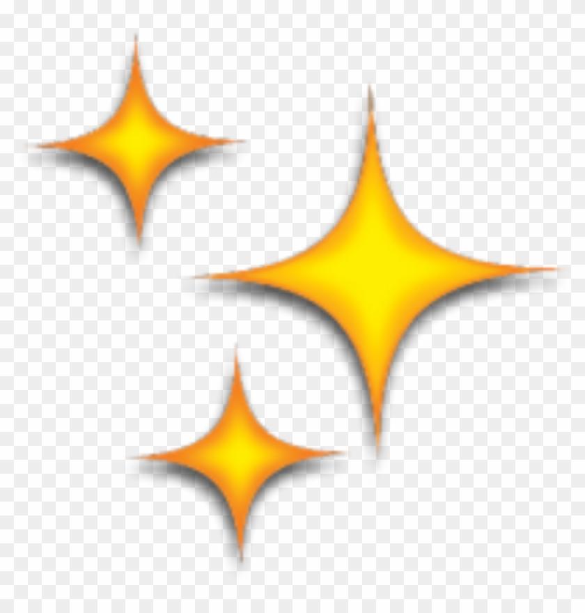 stars #star #yellow #emoji #emojis #tumblr #kawaii, HD Png