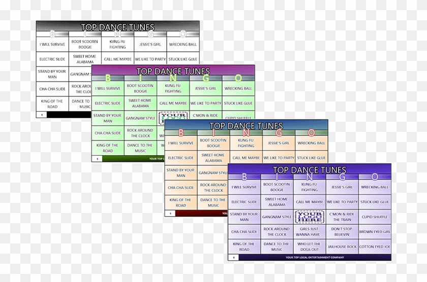 This is an image of Musical Bingo Cards Printable within activity