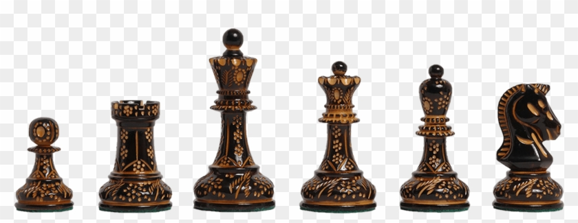 Burnt Boxwood And Natural Boxwood - Chess Pieces, HD Png