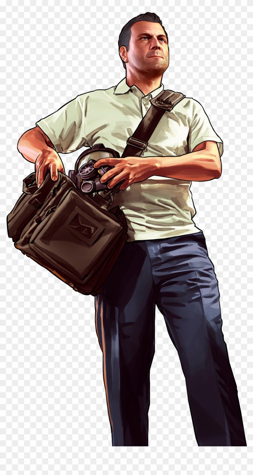 Gta V Personagens Png - Trevor Michael Franklin Png