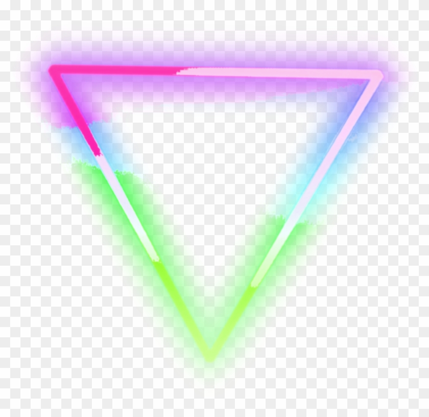 neon #triangle #pink #green #blue #lights #neonlights, HD Png