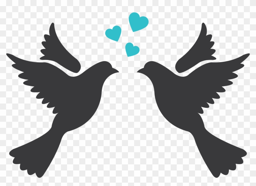 Love Birds Silhouette For Wedding Hd Png Download 2480x2480 2352563 Pngfind