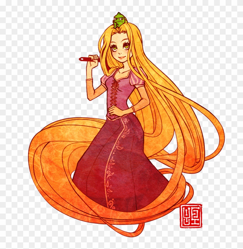 Rapunzel Clipart Color Rapunzel Png Fan Art Transparent Png 737x849 2354397 Pngfind