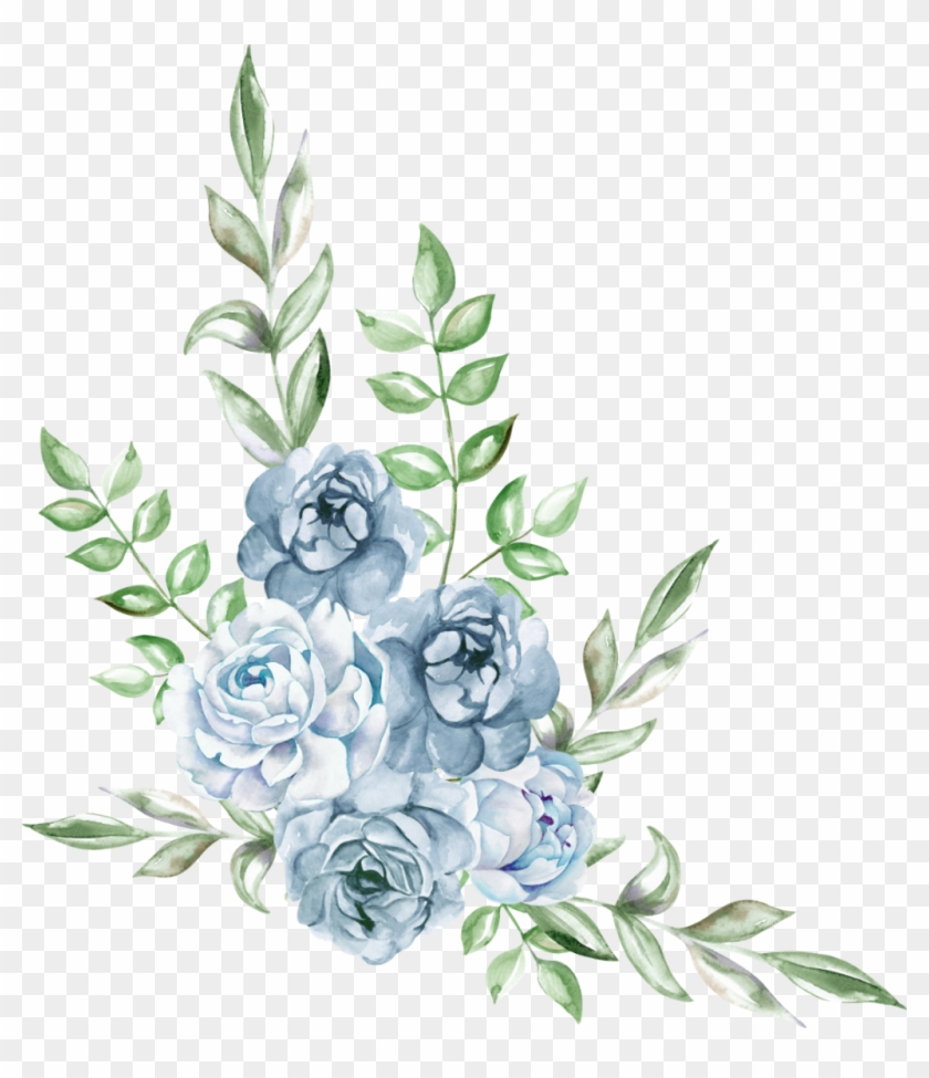 Freetoedit Ftestickers Watercolor Blue Rose Cluster