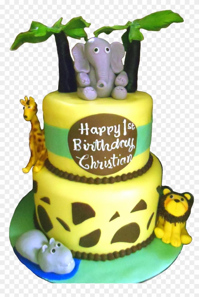 1st Happy Birthday Cake Png