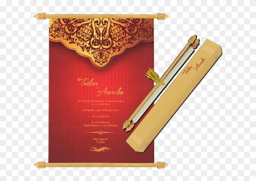 Buy Scroll Wedding Invitation Cards Sc 6070 Online