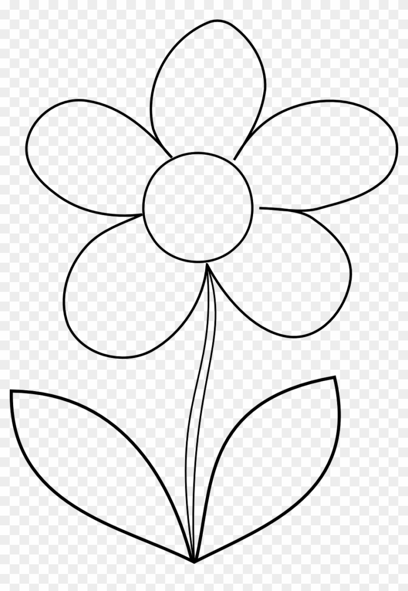 Flower Daisy Spring Outline Png Image Easy Flower Colouring Pages Transparent Png 915x1280 2373606 Pngfind