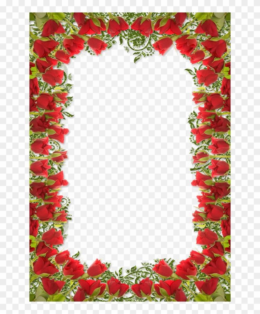 Red Floral Border Png Photo Red Floral Border Designs Transparent