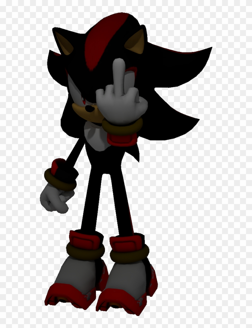 Cartoon Middle Finger Pictures Shadow The Hedgehog Sans Hd Png Download 596x1029 2378621 Pngfind