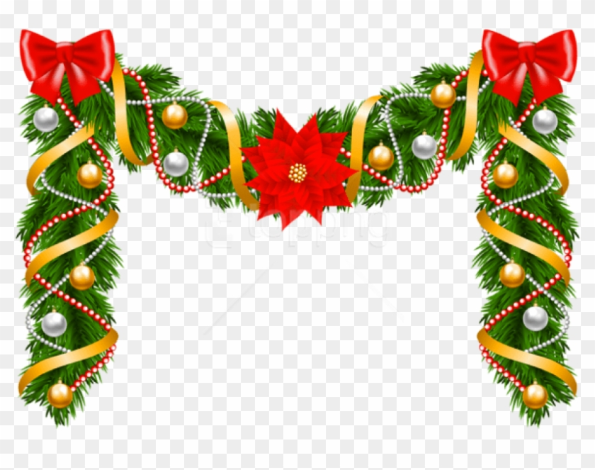 Free Png Christmas Deco Garland Png Christmas Design Borders