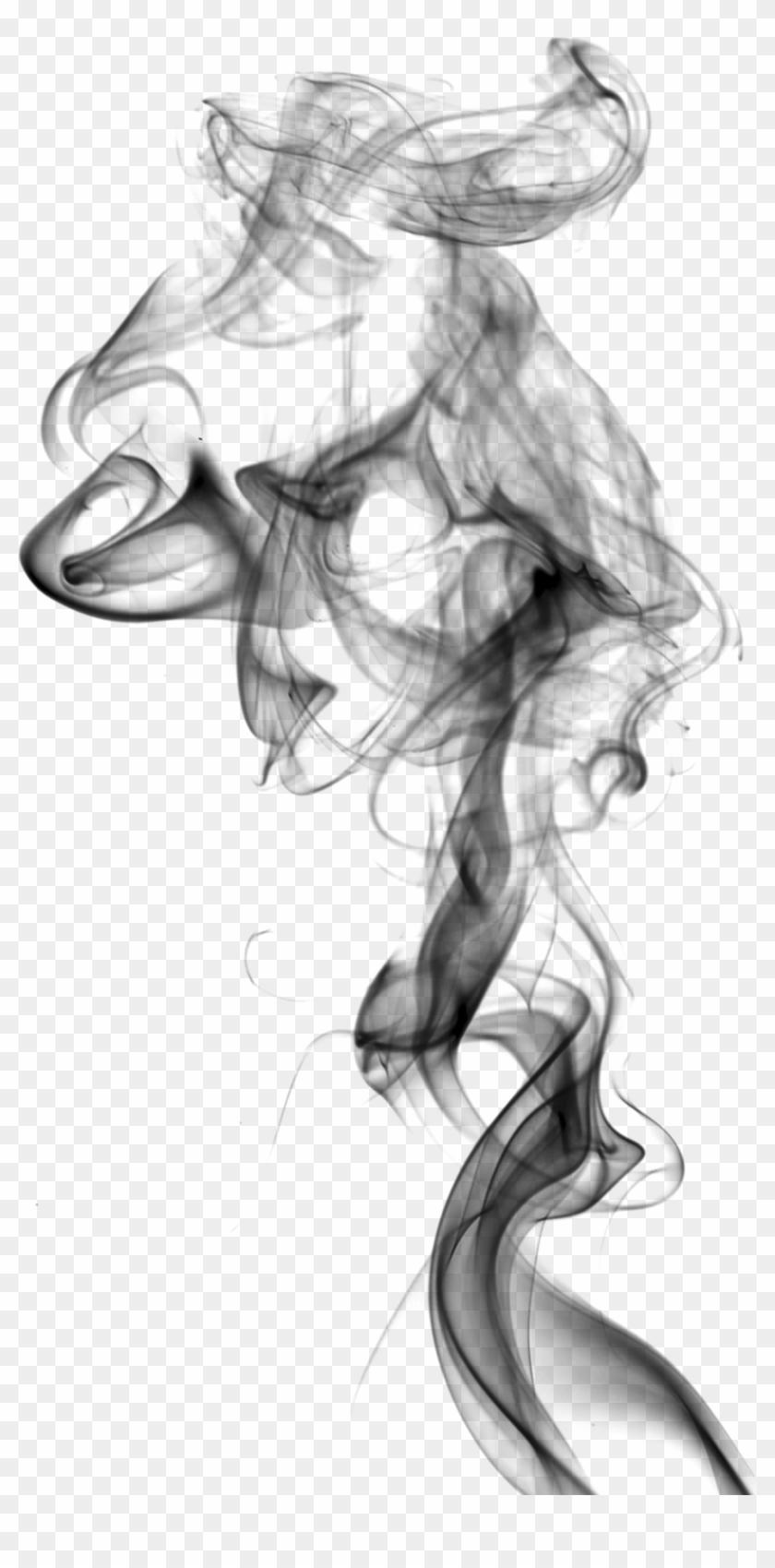 Smoke drawing. Smoking white clipart black