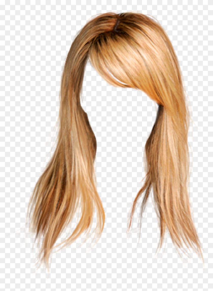 Hair Wig Blonde Longhair Bangs Cabello Para Photoshop Png Transparent Png 1024x1252 2381773 Pngfind