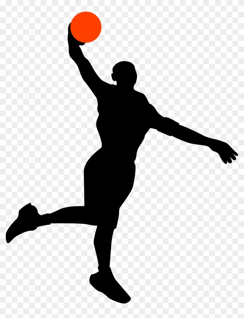 Basketball Silhouette Vector At Getdrawings - Basketball