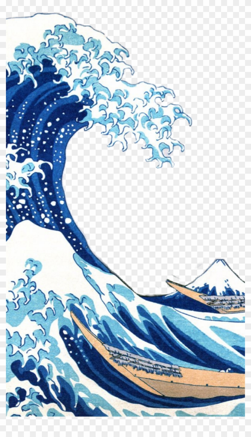 Thegreatwave Aesthetic Wave Ocean Water Great Wave Iphone X