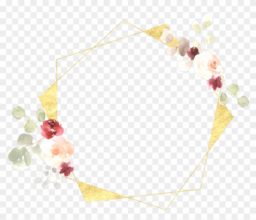 flower #frame #gold #flowers #green #border - Wedding, HD