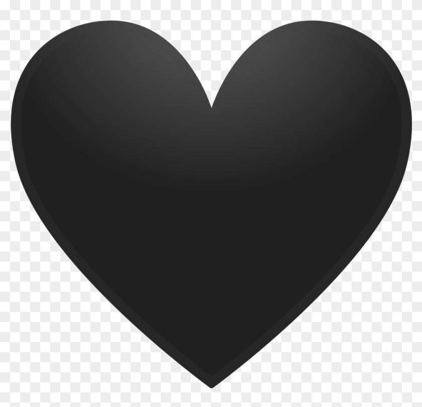 Black Heart Icon - Heart Flat Icon Png, Transparent Png