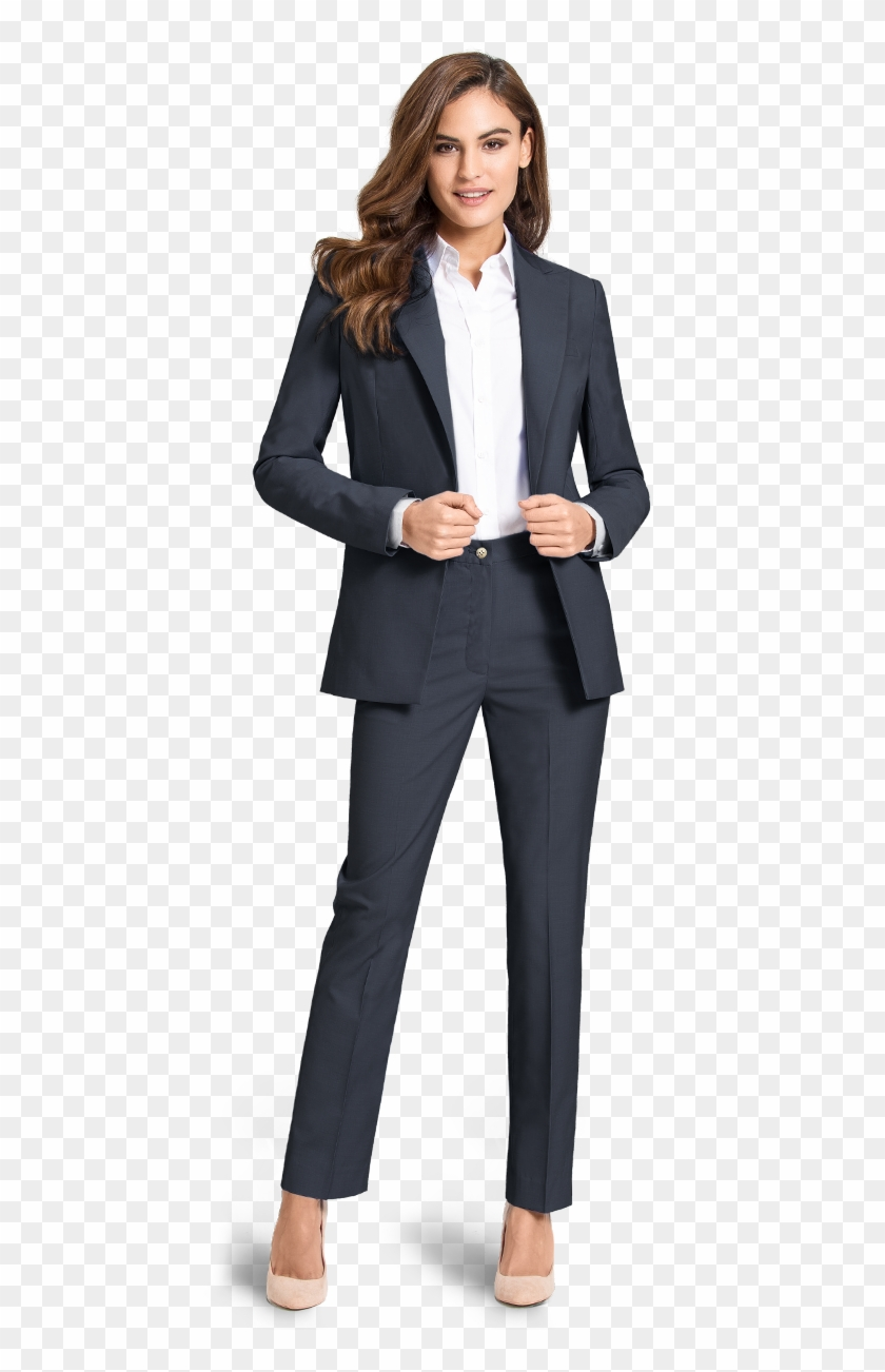 bcdeb433f4ba Blue Custom Woman Suit - Women In Tuxedos, HD Png Download ...