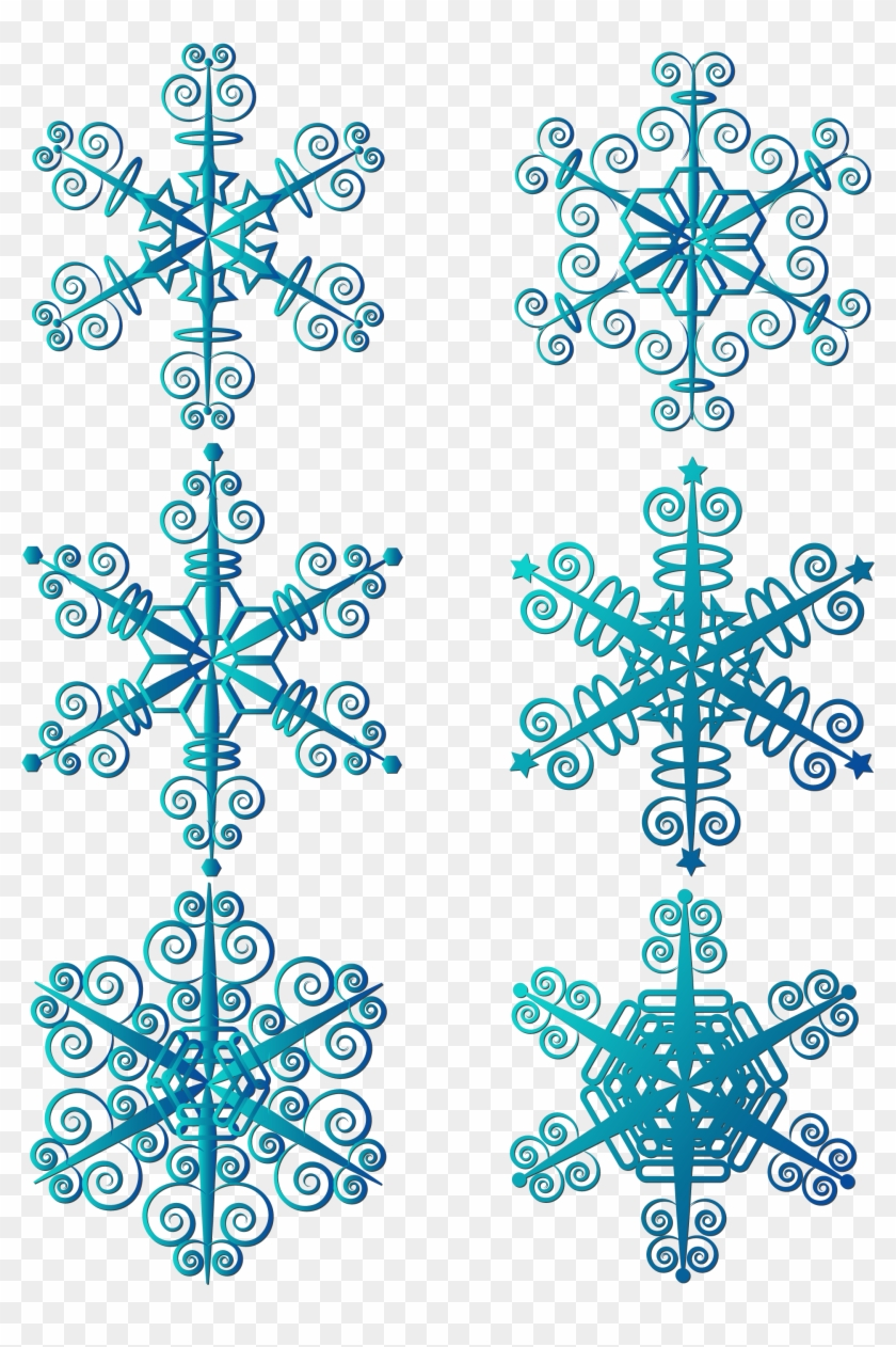 Winter Snowflakes Simple Blue Snowflake Elements Png Vector Graphics Transparent Png 2133x2852 2426484 Pngfind