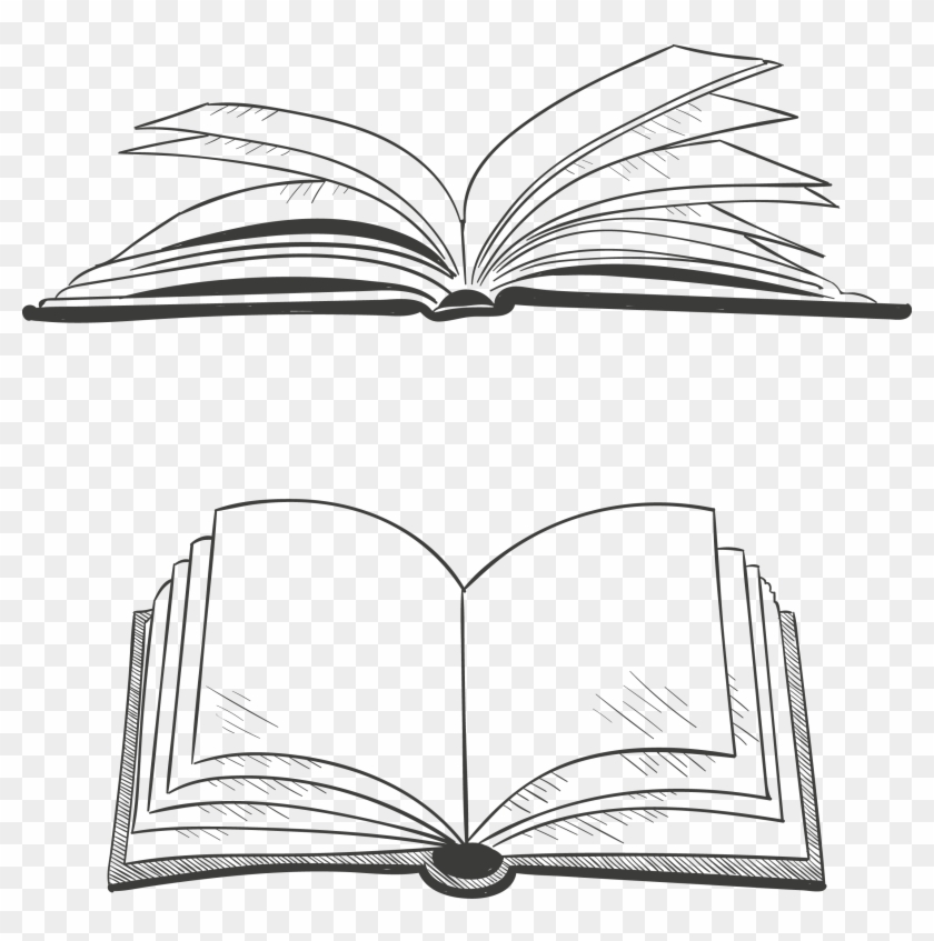 Open book. Graphics scalable vector artwork
