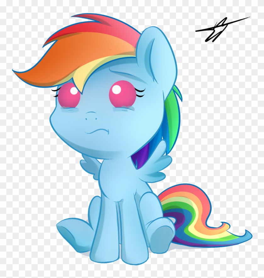 Kyodashiro, Baby, Baby Pony, Crying, Female, Filly, - Mlp Baby Rainbow  Dash, HD Png Download - 768x804(#2436860) - PngFind