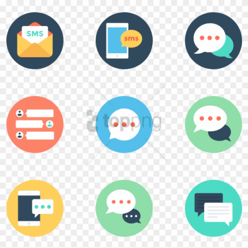 Free Png Text Messaging 50 Icons - Text Message Icon, Transparent