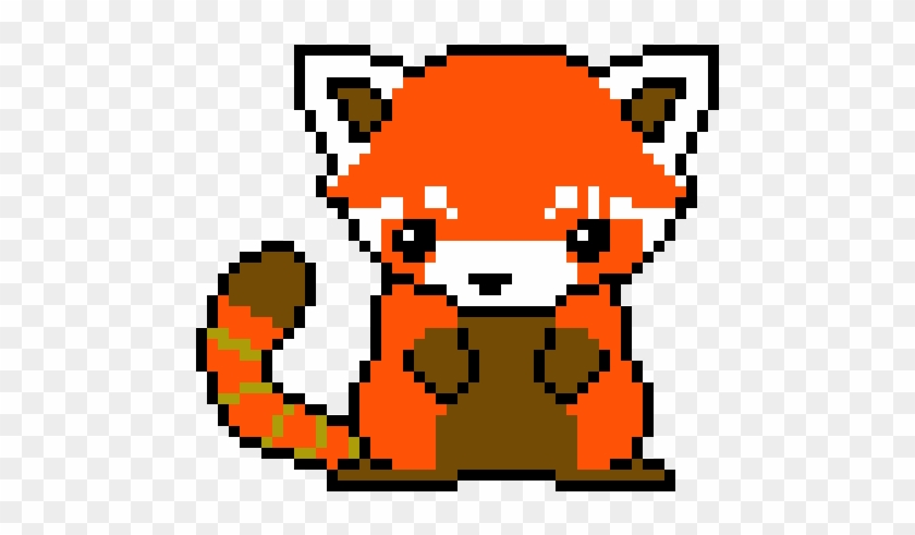 Red Panda Pixel Art Grid Red Panda Hd Png Download