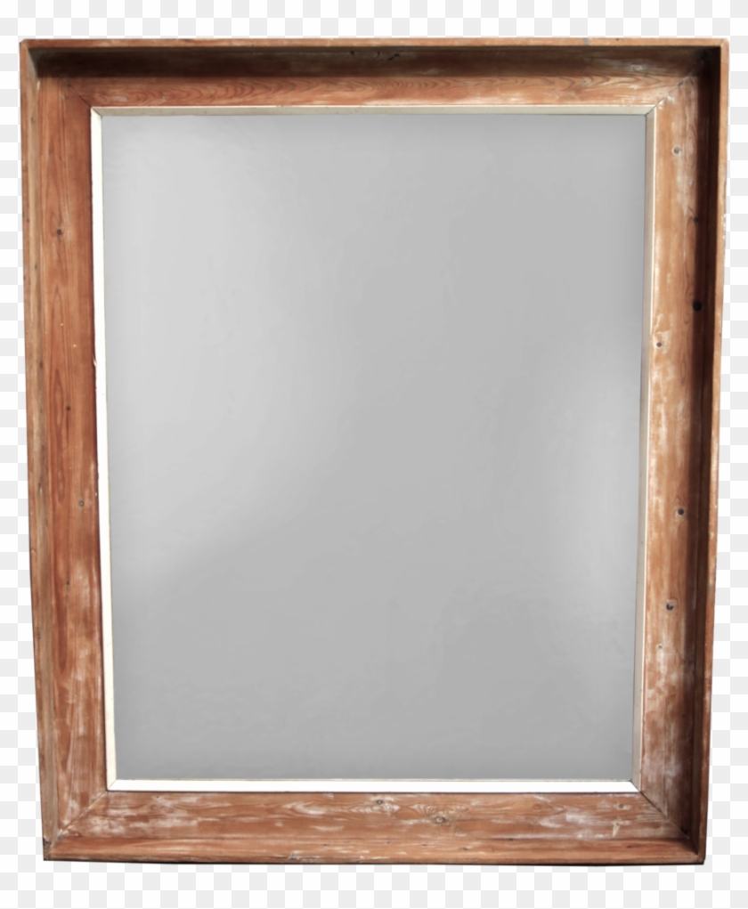 Large Pine Framed Mirror With Traces Of Old Paint Picture Frame Hd Png Download 1024x1206 2447302 Pngfind