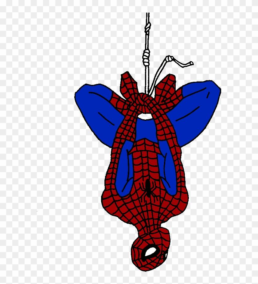 Spiderman upside down. Clipart fan art hd