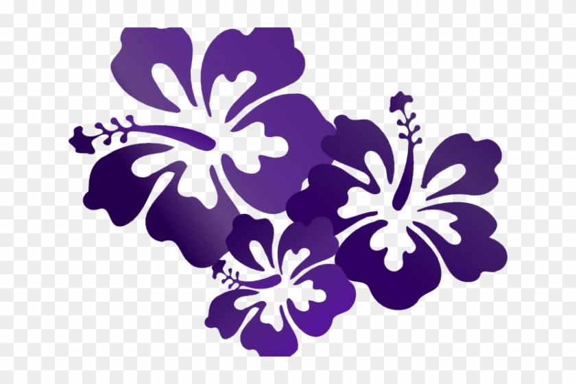 Hibiscus Flower Cartoon Purple Flower Vector Png Transparent Png