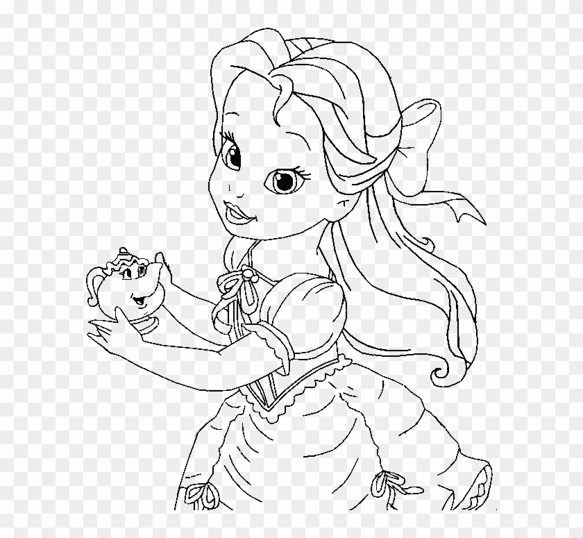 Baby Princess Belle Coloring Page Kids Coloring Pages Baby Disney Princess Belle Coloring Pages Hd Png Download 592x695 2458258 Pngfind