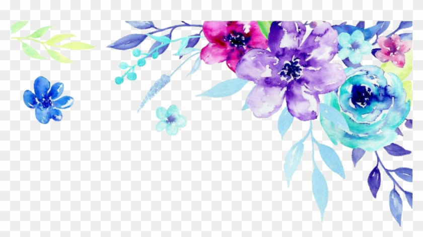 Corner Clipart Watercolor Flower Watercolor Corner Png