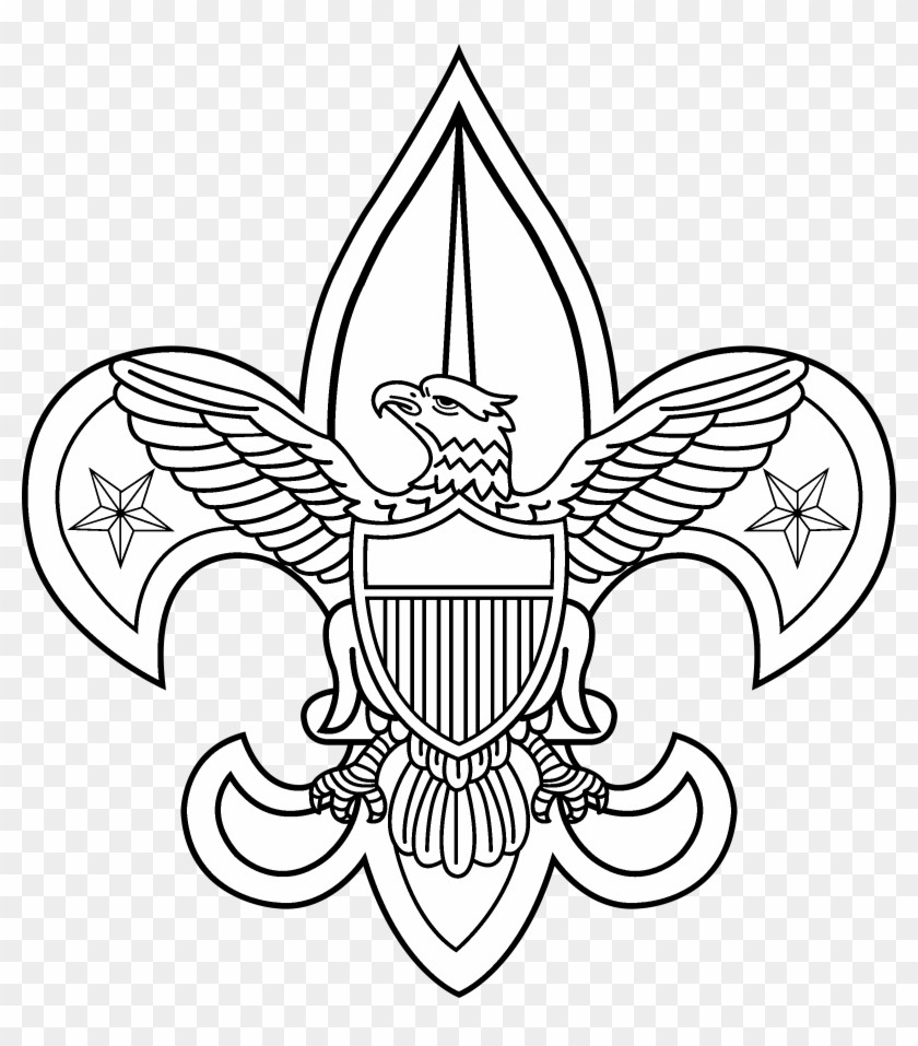 Boy Scouts 2 Logo Black And White - Boy Scout Of America