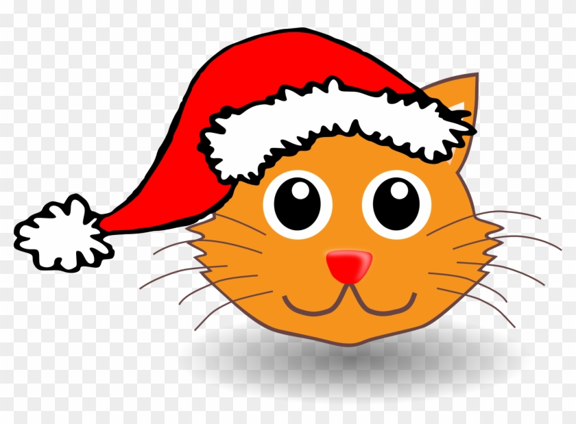 Cat In The Hat Clip Art Free Cartoon Cat With Christmas Hat Hd Png Download 1969x1359 252612 Pngfind