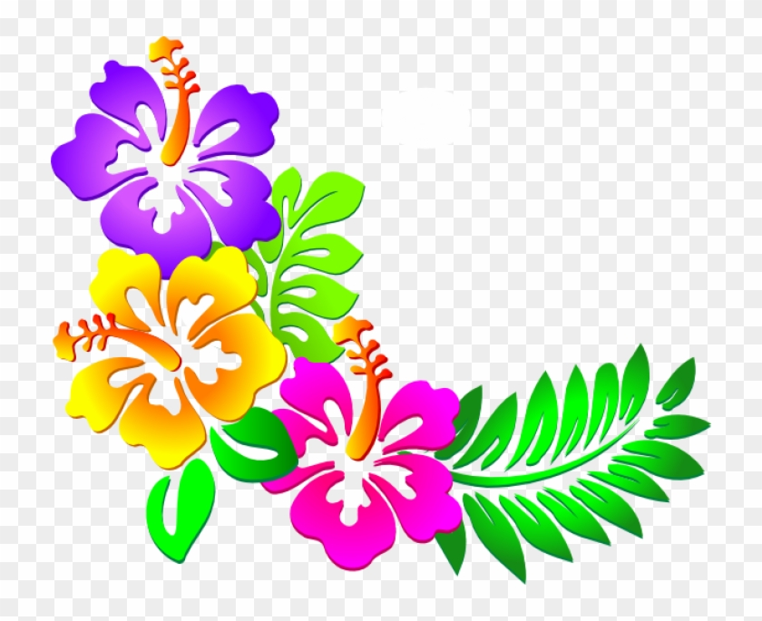 eae099949 Hawaiian Flowers Clipart , Png Download - Butterfly Corner Border Design, Transparent  Png. Free Download