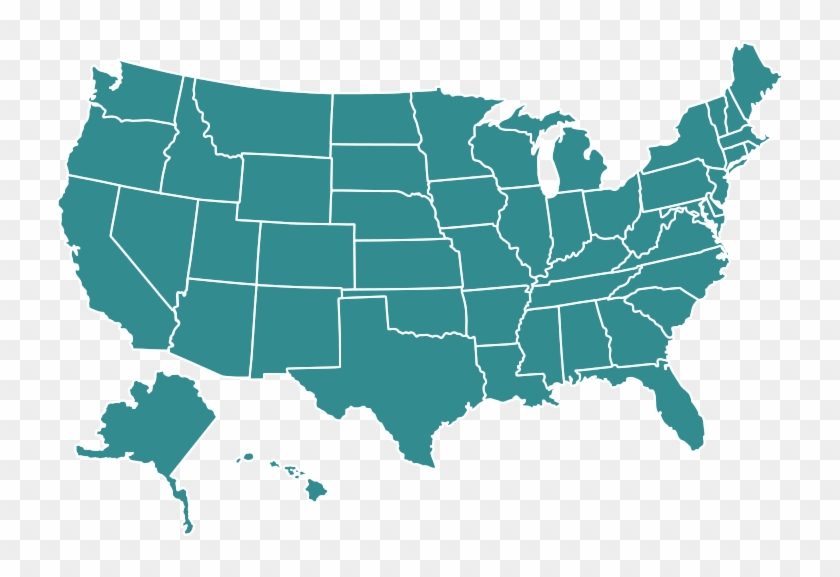 United States Png - Map Of America Gray, Transparent Png ...