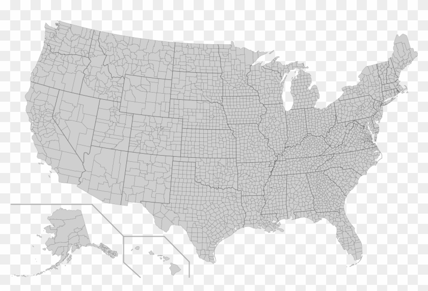 United States Map Transparent Background 3 Usa Map Counties Hd - Us-map-transparent-background